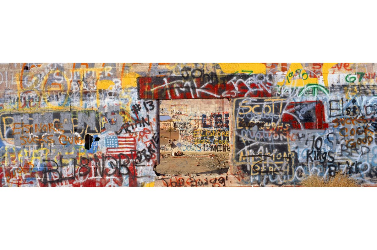 Graffiti Wall, Route 66, Calfornia