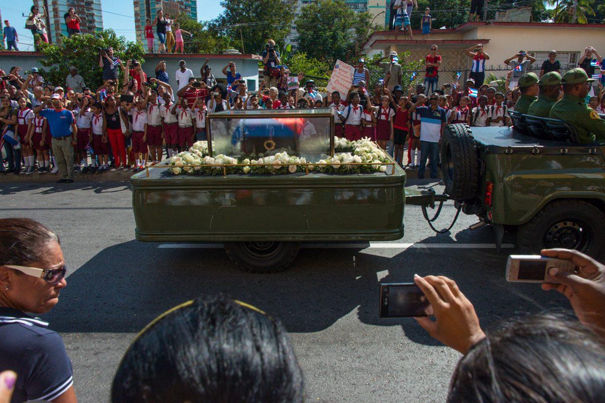 Fidel Castro's Funeral Casson, Santiago de Cuba