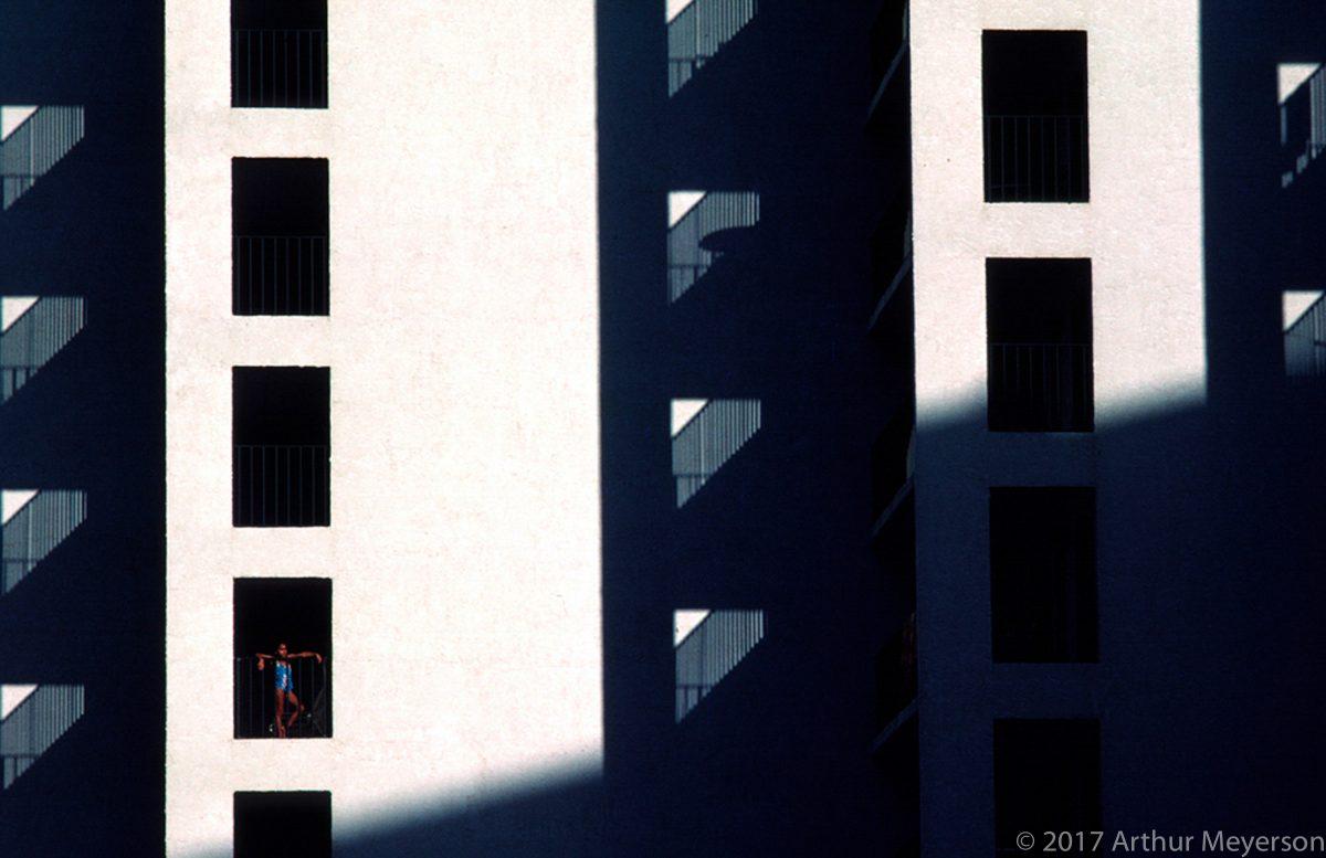 Girl on Balcony, Texas