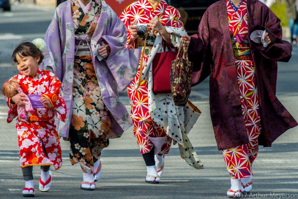 Kimonos, Kyoto