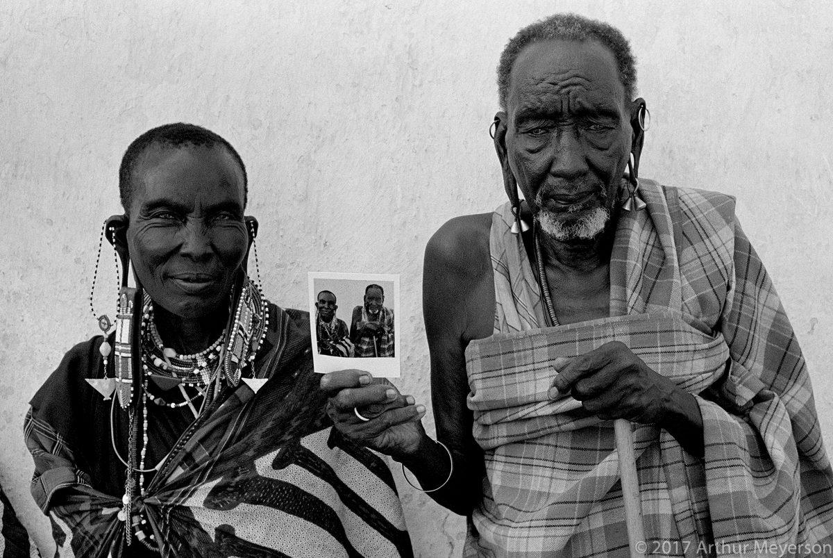 Masai With Polaroid, Tanzania