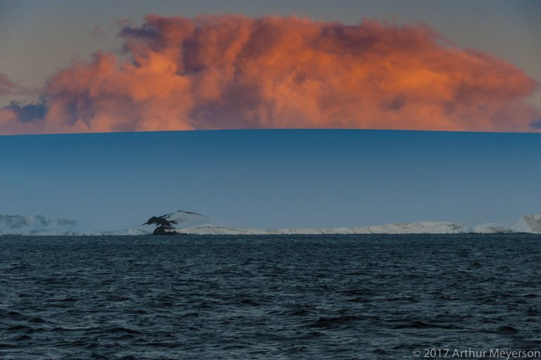 Cloud at Sunset, Antarctica