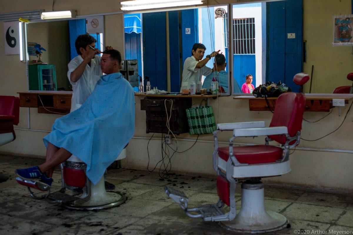Barber Shop Reflection