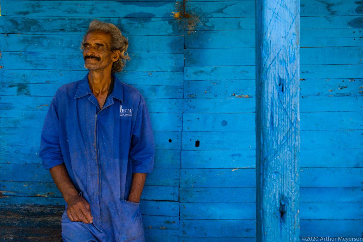 Fisherman and Blue Wall, Cojimar